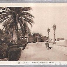 Postales: TARJETA POSTAL DE CADIZ - ALAMEDA MARQUES DE COMILLAS. 53. L.ROISIN. Lote 100561931
