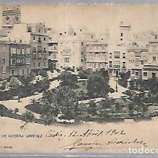 Postales: TARJETA POSTAL DE CADIZ - PLAZA DE GUERRA GIMENEZ. 857. HAUSER Y MENET. Lote 100562503