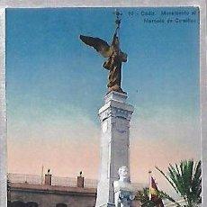 Postales: TARJETA POSTAL DE CADIZ - MONUMENTO AL MARQUES DE COMILLAS. 22.. Lote 100562543