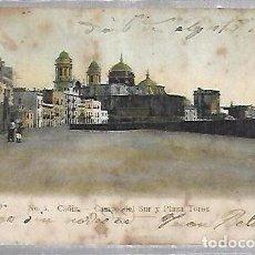 Postales: TARJETA POSTAL DE CADIZ - CAMPO DEL SUR Y PLAZA DE TOROS. Nº 5.. Lote 100562591