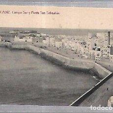 Postales: TARJETA POSTAL DE CADIZ - CAMPO DEL SUR Y PUNTA SAN SEBASTIAN. 28. THOMAS 1955. Lote 100562723