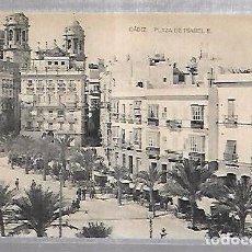 Postales: TARJETA POSTAL DE CADIZ - PLAZA DE ISABEL II. HAUSER Y MENET. Lote 100562915