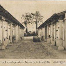 Postales: == H108 - POSTAL- VISTA PARCIAL DE LAS BODEGAS DE LOS SUCESORES DE R. MANJÓN - SANLÚCAR DE BARRAMEDA. Lote 101538571
