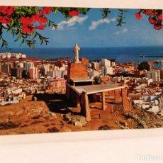 Postales: POSTAL ALMERIA VISTA PARCIAL Y MONUMENTO AL SAGRADO CORAZON, EDC. BEASCOA, SIN USO.. Lote 102483643