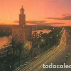 Postales: SEVILLA Nº 200 PASEO DE CRISTOBAL COLON TORRE DEL ORO NOCTURNA- ED ARRIBAS - SIN CIRCULAR - AÑO 1984. Lote 103063843