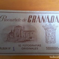 Postales: BLOCK DE POSTALES DE GRANADA - ALBÚM 1 DE SOBERANAS - (COMPLETO 10 POSTALES). Lote 103200079