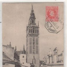Postales: SEVILLA LA GIRALDA PZ 10322 CIRCULADA CON AMBULANTE. REVERSO SIN DIVIDIR.. Lote 103667395