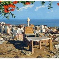 Postales: 7060 - ALMERÍA. VISTA PARCIAL Y MONUMENTO AL SAGRADO CORAZÓN DE JESÚS. SEGURA. SIN CIRCULAR. Lote 104061095