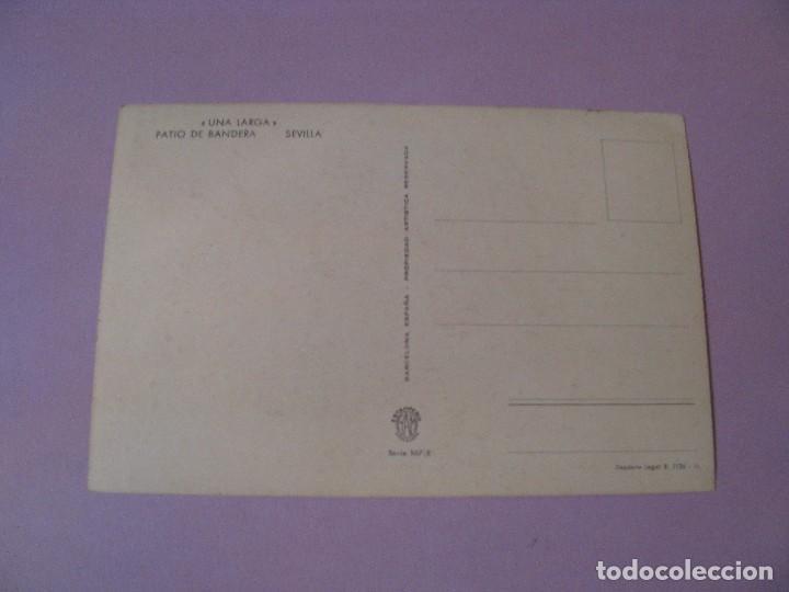 Postales: ANTIGUA POSTAL DE ILUSTR. E/TELA. ED. RAM. SERIE 107/E. SEVILLA, PATIO DE BANDERA. SIN CIRCULAR. - Foto 2 - 104320091