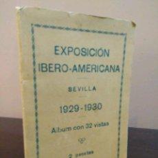 Postales: EXPOSICIÓN IBERO-AMAERICANA SEVILLA 1929-1930 ALBUM CON 32 VISTAS TIPOGRAFIA ESPAÑOLA SEVILLA. Lote 104652455