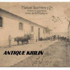 Postales: JEREZ DE LA FRONTERA .- VINOS Y COGNACS MANUEL GUERRERO Y CIA. CIRCULADA 1914 . Lote 105055907