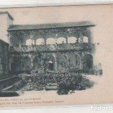 Postales: GENERALIFE PATIO DE LA ALBERCA. COLECCIÓN GRANADINA NUM 68 FRANCISCO ROMAN FERNANDEZ. . Lote 105245487