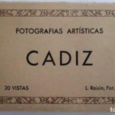 Postales: ALBUM 20 VISTAS, FOTOGRAFIAS ARTISTICAS CADIZ, L. ROISIN. Lote 105280355