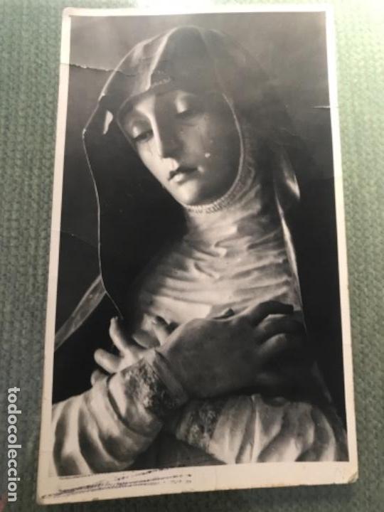 ANTIGUA Y RARA FOTOGRAFÍA POSTAL VIRGEN SOLEDAD IGLESIA SANTA ANA GRANADA TORRES MOLINA FOTOGRAFIA (Postales - España - Andalucía Antigua (hasta 1939))