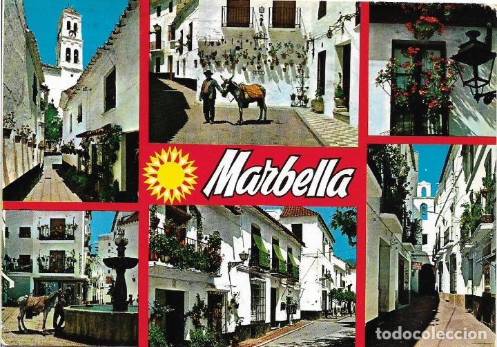 MARBELLA, VARIOS ASPECTOS - POSTALES COSTA DEL SOL 1662 - CIRCULADA (Postales - España - Andalucia Moderna (desde 1.940))