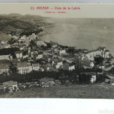 Postales: MALAGA, VISTA DE LA CALETA.. Lote 105917802
