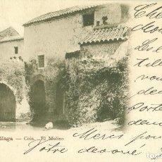 Postales: MÁLAGA COÍN EL MOLINO CIRCULADA EN1903.. Lote 106365351