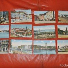 Postales: MALAGA , LOTE DE 12 POSTALES ,BENZAQUEN & CO. GIBRALTAR , SIN CIRCULAR . Lote 107007883