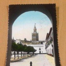 Postales: ANTIGUA POSTAL GIRALDA Y PATIO DE BANDERAS SEVILLA. Lote 107037831
