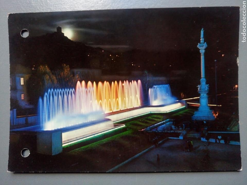POSTAL GRANADA FUENTE MONUMENTAL DEL TRIUNFO NOCTURNA EDICIONES ARRIBAS (Postales - España - Andalucia Moderna (desde 1.940))