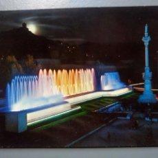 Postales: POSTAL GRANADA FUENTE MONUMENTAL DEL TRIUNFO NOCTURNA EDICIONES ARRIBAS. Lote 107052131