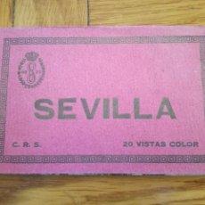 Postales: SEVILLA BLOC CON 20 POSTALES ANTIGUAS A COLOR CRS. Lote 107104339
