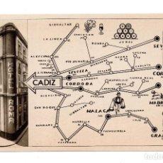 Postales: TARJETA POSTAL CADIZ, SUCURSAL: HOTEL LORETO TELEF. 1558. HUECOGRABADO FOURNIER-VITORIA . Lote 108268171