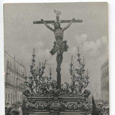 Postales: SEVILLA. SEMANA SANTA. CLICHÉ ALMELA Nº 7. STO. CRISTO DE LA EXPIRACIÓN 1º PASO CACHORRO DE TRIANA. Lote 108317200