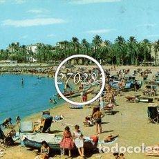 Postales: SITGES (BARCELONA) Nº 74 ASPECTOS DE LA PLAYA - CIRCULADA - AÑO 1963. Lote 108816179