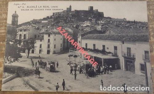 ALCALA LA REAL JAEN. LOPEZ FOT. Nº 2 SALIDA DE COCHES PARA GRANADA. SIN CIRCULAR (Postales - España - Andalucía Antigua (hasta 1939))