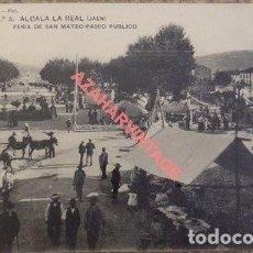 Postales: ALCALA LA REAL JAEN. LOPEZ FOT. Nº 3 FERIA DE SAN MATEO PASEO PÚBLICO. SIN CIRCULAR. Lote 108869143
