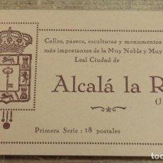 Postales: BLOC 18 POSTALES ALCALA LA REAL CALLES PASEOS ESCULTURAS MONUMENTOS JAEN MARRON, 1ª SERIE. Lote 108903963
