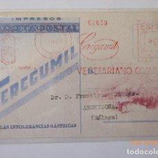 Postales: POSTAL PUBLICIDAD DE CEREGUMIL ,IMPRESO DIRIGIDA A ARCHIDONA MALAGA, 1951. . Lote 109140383