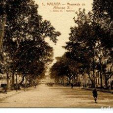 Postales: MÁLAGA-ALAMEDA DE ALFONSO XIII- - ROISIN Nº 8. Lote 109557719