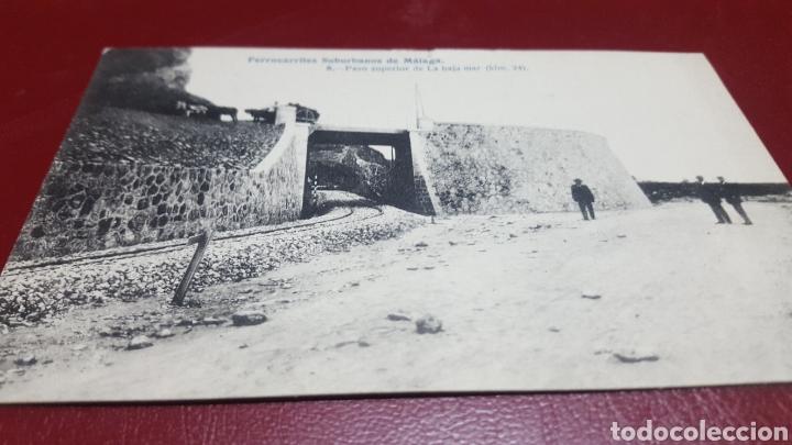 POSTAL FERROCARRILES SUBURBANOS MALAGA. PASO BAJAMAR. LACOSTE NÚM 8 (Postales - España - Andalucía Antigua (hasta 1939))