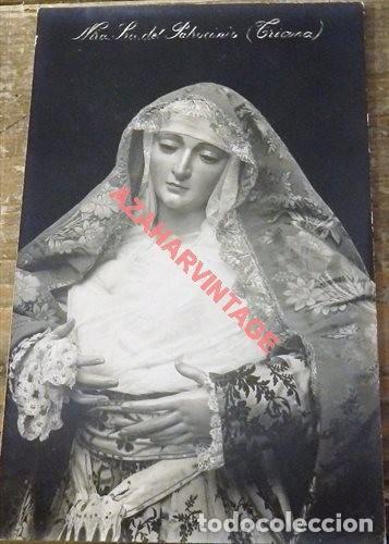 SEMANA SANTA SEVILLA, ESPECTACULAR POSTAL FOTOGRAFICA ANTIGUA VIRGEN DEL PATROCINIO (Postales - España - Andalucía Antigua (hasta 1939))