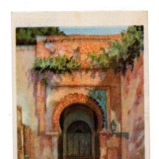 Postales: GRANADA.- PUERTA DE JUSTICIA. ALHAMBRA. INTERIOR. LIT.ANGEL. Lote 110963075