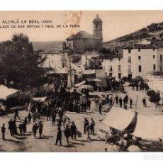 Postales: ALCALA LA REAL (JAEN). Nº 12. PLAZA DE SAN ANTON Y REAL DE LA FERIA.FOT. LOPEZ. HAUSER Y MENET. Lote 111291439