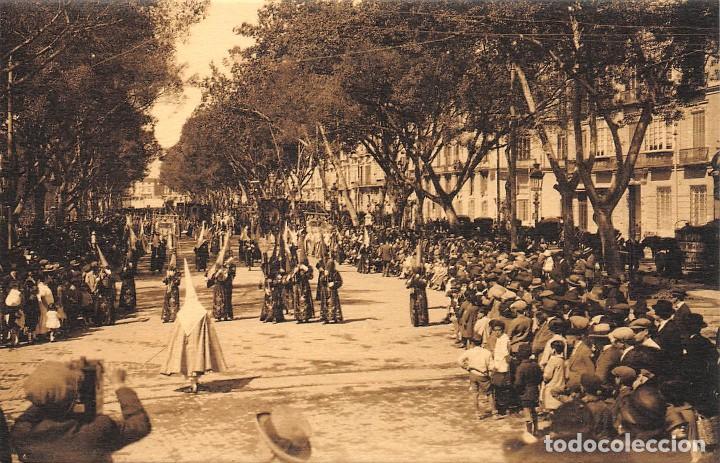 MÁLAGA.- PROCESIONES DE SEMANA SANTA (Postales - España - Andalucía Antigua (hasta 1939))
