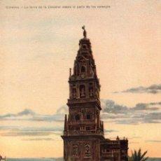 Postales: CORDOBA. LA TORRE DE LA CATEDRAL DESDE EL PATIO DE LOS NARANJOS. SIN ESCRIBIR. EDIT PETRACCHI. Lote 112155255