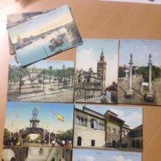 Postales: LOTE COLECCION ANTIGUAS POSTALES SEVILLA TOMAS SANZ PURGER & CO. Lote 112218387