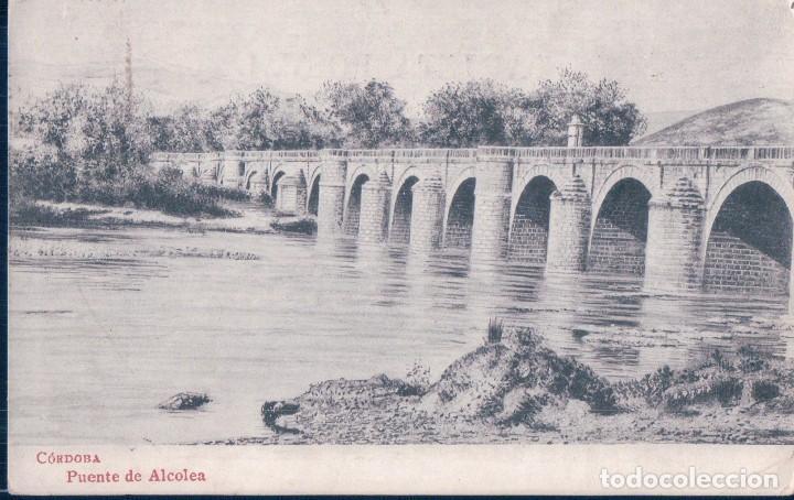 POSTAL CORDOBA - PUENTE DE ALCOLEA - CIRCULADA SELLOS FRANCIA (Postales - España - Andalucía Antigua (hasta 1939))