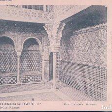 Postales: POSTAL GRANADA - ALHAMBRA - SALA DE LOS DIVANES 7 - LAURENT - SERIEK ANDALUCIA - CIRCULADA. Lote 112920523