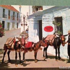 Postales: POSTAL COSTA DEL SOL MIJAS MALAGA RINCON TIPICO Y BURROS TAXI. Lote 112965403