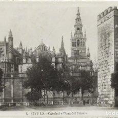 Postales: SEVILLA Nº 5 .- CATEDRAL Y PLAZA DEL TRIUNFO .- EDICION HAE. Lote 113009067