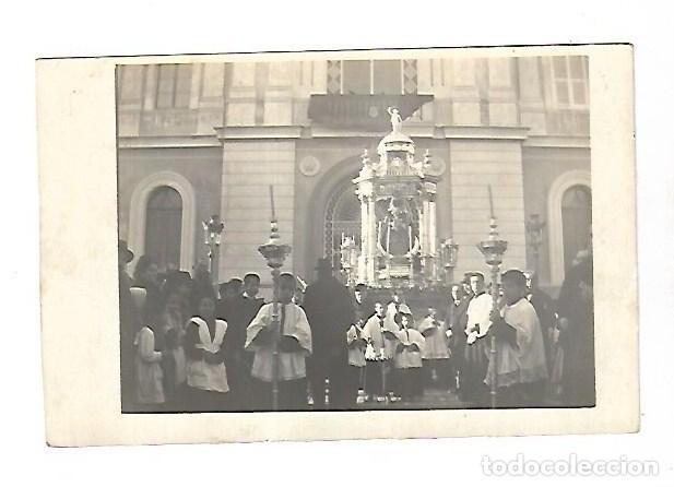 VIRGEN DE LOS MILAGROS. PUERTO DE SANTA MARIA. TARJETA POSTAL. PROCESION MOTIVO EPIDEMIA DE GRIPE (Postales - España - Andalucía Antigua (hasta 1939))