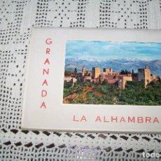 Postales: CARPETA ACORDEÓN 10 POSTALES NUEVAS LA ALHAMBRA GRANADA EDICIONES GARCÍA GARRABELLA Y C.IA ZARAGOZA. Lote 113251419
