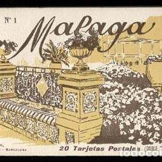 Postales: MALAGA BLOC COMPLETO CON 20 POSTALES L. ROISIN, FOTO.. Lote 113288483