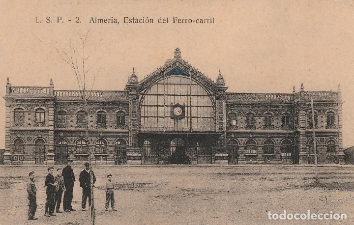 ALMERIA- ESTACION DE FERRO CARRIL- L.S.P-2 (Postales - España - Andalucía Antigua (hasta 1939))