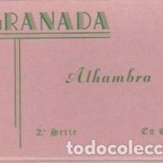 Postales: CARNE DE 10 POSTALES ... GRANADA . ALHAMBRA ... ZERKOWITZ. Lote 114182319